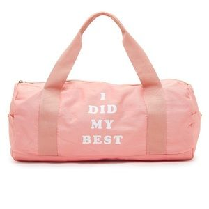 Work it Out- I Did My Best Duffle bag. Ban.do